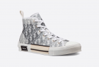 Dior High-Top White and Black Oblique Canvas
